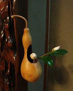 Gourd vase for flower arranging.