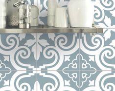Tile Vinyl & Wandaufkleber oder abnehmbare Wallpaper für Küche Bad: Barcelona B173