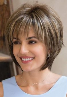 Reese PM by Noriko Wigs - Partial Monofilament Wig. Love the cut for short hair. Hairstyles Reese PM by Noriko Wigs - Partial Monofilament Wig Short Layered Haircuts, Short Hairstyles For Thick Hair, Layered Bob Hairstyles, Haircut For Thick Hair, Short Hair Styles Easy, Short Hair With Layers, Hairstyles With Bangs, Easy Hairstyles, Curly Hair Styles