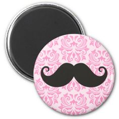 Black handlebar mustache on pink damask pattern refrigerator magnets Yes I can say you are on right site we just collected best shopping store that haveHow to          Black handlebar mustache on pink damask pattern refrigerator magnets today easy to Shops & Purchase Online - transfe...