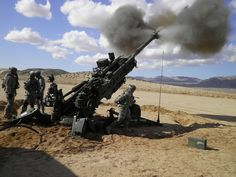 Soldiers from the 2nd Battalion, 8th Field Artillery Regiment, 1st Stryker Brigade Combat Team, 25th Infantry Division, currently deployed to the U.S. Army's National Training Center in Fort Irwin, Calif., fire the M777 A2 Howitzer Feb. 19. (U.S. Army Photo By. Cpt. Angela Chipman, 2-8 FA UPAR)