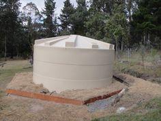 New water tank installed with rain garden around it - Sugarloaf Permaculture  #watertank #drinkingwater #raingarden #rainwaterharvesting #rainwater