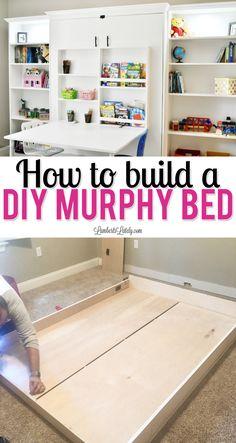 Full Size Murphy Bed, Build A Murphy Bed, Murphy Bed Desk, Murphy Bed Plans, Murphy Bed Office, Best Murphy Bed, Murphy-bett Ikea, Bed Ikea, Ideas Habitaciones