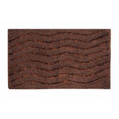 "Ess Ess Exports Artesia Bath Rug Color: Chocolate, Size: 17"" W x 24"" L"