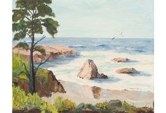 California Seascape by Evelyn Meck, 1975