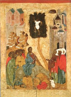 Russian icons from the Pskov. Byzantine Icons, Byzantine Art, Early Christian, Christian Life, Michael Church, Religion Catolica, Russian Icons, Best Icons, Palm Sunday