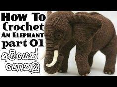 Crochet Elephant Pattern, Crochet Teddy Bear Pattern, Crochet Animal Amigurumi, Crochet Amigurumi Free Patterns, Crochet Doll Pattern, Crochet Animals, Crochet Instructions, Knitting, Baby