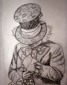 Mad Hatter Sketch 10-22-12 art by DK