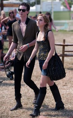 Another time Emma showed everyone up was when she just walked through a field in a pair of wellies. | 23 Times Emma Watson Made Everyone Around Her Look Painfully Average