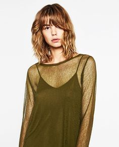 Image 2 of DOUBLE LAYER TRANSPARENT TOP from Zara