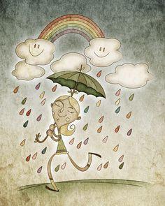 Rain Art Print José Luis Guerrero