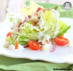 Wedge Salad... Yum!! For recipe vist: www.facebook.com/theteadetox ww.teadetox.com