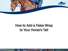 If your horse has no tail, you may choose to add a false wrap, which is essentially a bit of braided hair. Check out these tips from Horseland.com.au on how to add one for your horse. #falsewrap #horse #equine #equestrian