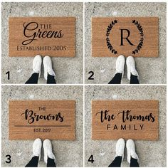 18x30 Customized Doormat/Welcome Mat 100% Coir Material  Freshen your entryway with a beautiful custom welcome mat! These make the best gifts for new homeowners, married couples and closing gifts as well! Coir doormats are made of 100% natural coir and are great for preventing dirt and mud from tracking inside your home. Doormats are stain, rot, and mildew resistant. We use a UV sealant to ensure that your mat is perfect for your doorstep. We suggest you keep your mat as dry as possible ...