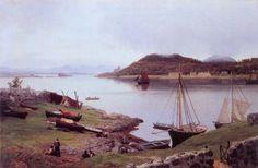 Hans Gude (Norwegian 1825–1903) [Norwegian romantic nationalism] Oban Bay, Skottland, 1889. National Gallery of Norway, Oslo.