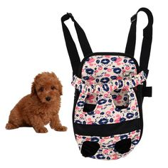 Pet Carrier Portable Dog Mesh Backpack Head Out Double Shoulder Design Travel Bag