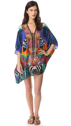 Camilla Short Lace Up Caftan   Iam ready for the beach:)