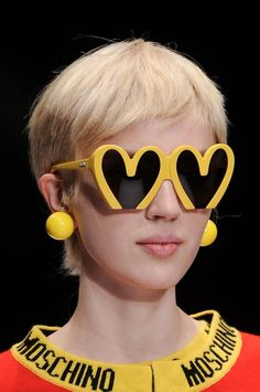 These look a bit like hearts or a bit like the Golden Arches... Moschino Fall 2014