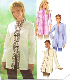 Butterick Sewing Pattern B4075 Womens Tunic with by CloesCloset, $9.00