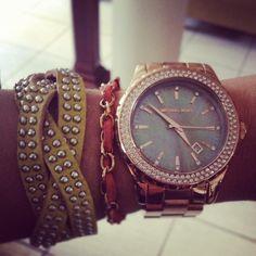 Mi nuevo reloj. #MichaelKors. <3