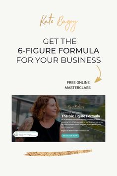 FREE ONLINE MASTERCLASS: Get my proprietary formula for attracting the clients you want & generating of high-value leads for your small business, so you can create consistent income doing what you love & working from home (or anywhere). Small Business Start Up, Best Home Business, Small Business Marketing, Starting Your Own Business, Home Based Business, Business Tips, Online Business, Instagram Tips, Master Class