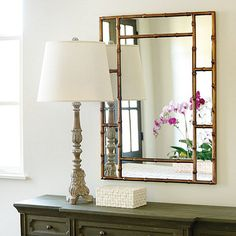 Our Tiana Mirror features eight mirror panels surround a large center glass framed in the elegant Chinoiserie style. Beach Style Mirrors, Bamboo Mirror, Mirror Panels, Ballard Designs, Home Decor Inspiration, Decor Ideas, Chinoiserie, Decoration, Home Accessories