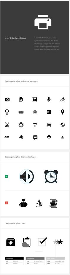 Google Visual Assets Guidelines | UI Icons