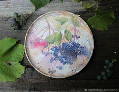 """Купить """"Винная ягода"""" тарелка-панно в интернет магазине на Ярмарке Мастеров"""