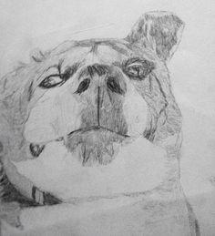 Mon Chien  Crayon de bois