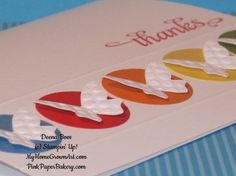 Beautiful Wings thank you card. #stampinup