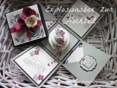 Explosionsbox mit Geldfach zur Hochzeit - Bloghop Team...