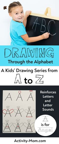 Each drawing tutorial starts with a letter and ends with something that starts with that letter. These free printables teach kids how to draw starting with each letter of the alphabet. Alphabet Activities Kindergarten, Teaching The Alphabet, Printable Activities For Kids, Kids Learning Activities, Learning Letters, Fun Learning, Teaching Kids, Free Printables, Preschool