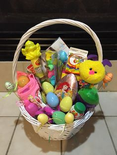 Easter basket for a 1 year old we g three rubys first easter easter basket negle Gallery
