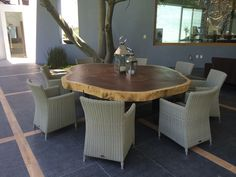 Round Parota Dining Table