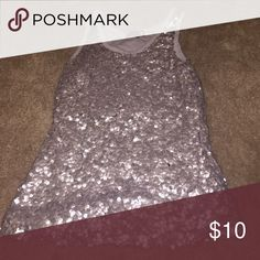 Gray Sequin Tank Gray Sequin Tank Size XS Cotton On Tops Tank Tops