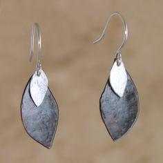 Silver Seeds Earrings