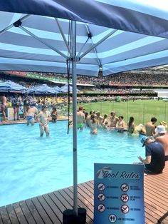 Well that Pool Deck was a lot of fun.  Easily one of the best experiences I've had at a stadium anywhere in the world. Thanks @CricketAus @GabbaBrisbane #Ashes #FanExperience #SportsBiz 👏