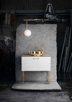 Contemporary Furniture - Console Sink - Washstand Vanity - Bathroom Design