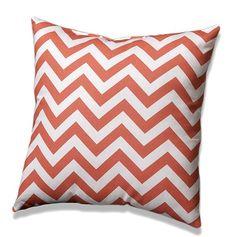 Coral Chevron Throw Pillows - liz-and-roo-fine-baby-bedding.myshopify.com