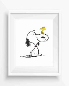 Snoopy and Woodstock,Snoopy Woodstock Printable,digital prints,Kids Room Decor,Nursery Decor,Baby Gift,Instant Download