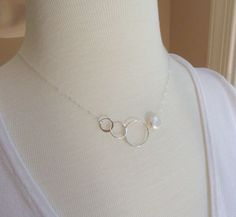 Sterling silver and Pearl Past present future by BriguysGirls, $30.00