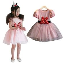 Kids Christmas Gift Minnie Mouse Dress Party Fancy Costume Girls Lace Tutu Dress Sequins Sparkle Toddler Girl Clothing Red Dots(China (Mainland))