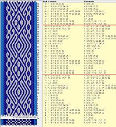 26 tarjetas,3 colores, repite cada 20 movimientos // sed_506a diseñado en GTT༺❁