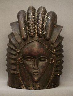Bundu helmet mask - sande society, sowei, ndoli jowei