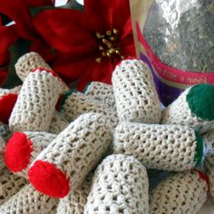 DIY cat toys....Crochet covered catnip cat toys. Cats LOVE these!!! Super quick to make. Make extra to donate to your local shelter or animal rescue. Thank YOU for helping the animals! NOTE: 11/16/15 - Bubblews took down their website so I will be reposting this pattern to my personal blog in a few days. Thank you! Pam