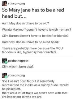 The only acceptable reason I could see for not making Clint deaf in the movies so far is to show him losing his hearing in his or Black Widow's movie and really focusing on the impact it has.
