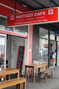 Pastizzi Cafe Newtown SYD. One product, done well, people will always come.