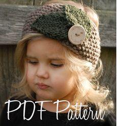 Knitting PATTERN-The Jordynn Warmer Toddler Child Adult