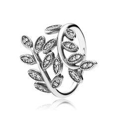 Shimmering Leaves Ring - Pandora UK | PANDORA eSTORE