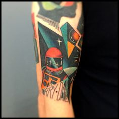2001 Space Odyessy tattoo by David Coté  my tribute to the late and great Stanley Kubrick